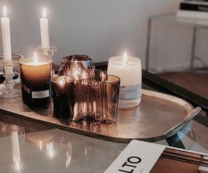 candles and magazine image