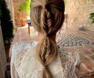 belleza, hair, and trenza image