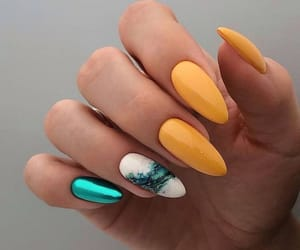 nails, green, and yellow image