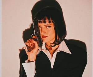 uma thurman, 90s, and pulp fiction image