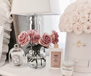 bedroom, roses, and chic image
