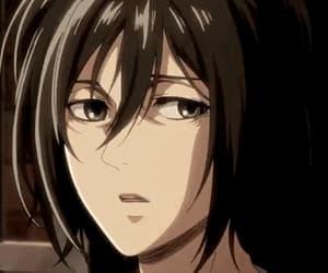 anime girl, gif, and mikasa ackerman image