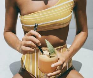 bikini, drink, and summertime image