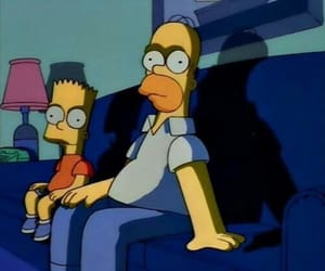 homer, bart, and simpsons image