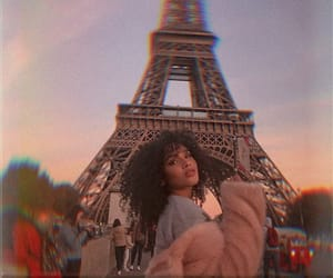 girl, paris, and pink image