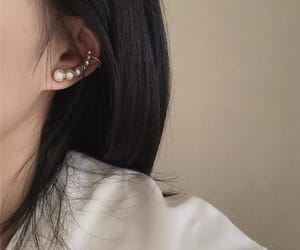 chic, earring, and elegance image