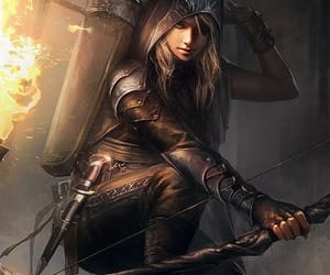 archer, fantasy, and woman image