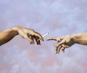art, love, and cigarette image