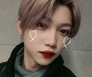 kpop icons, psd fake, and felix stray kids image