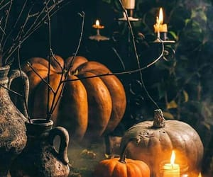 autumn, candle, and dark image