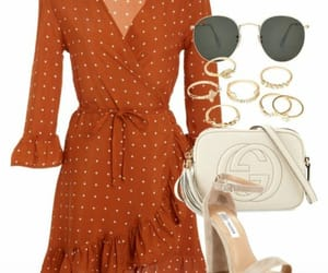 brown, dress, and style image