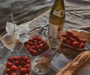 strawberry, food, and baguette image