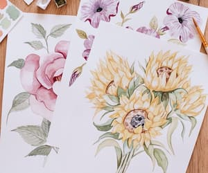 art, arts, and flowers image