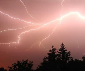light, lightning bolt, and night image