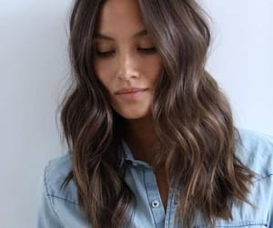 hair, brown, and beauty image