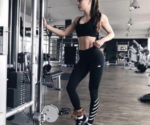 brunette, fitness, and girl image