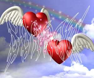 angel, aesthetic, and hearts image