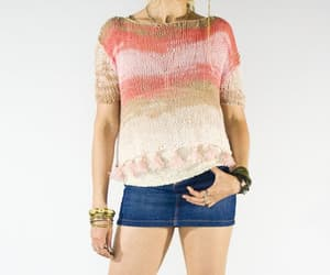 cropped top, boho tops for women, and hippie clothes image