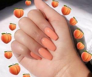 nails, peach, and orange image