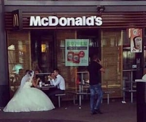 McDonalds, wedding, and funny image