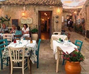italy, travel, and restaurant image