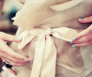 fashion, bow, and dress image