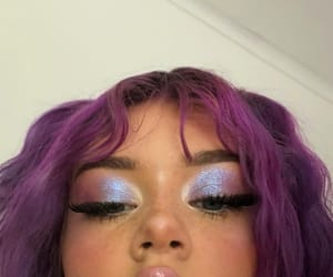 makeup, purple, and aesthetic image
