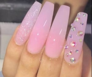 nails, pinknails, and longnails image