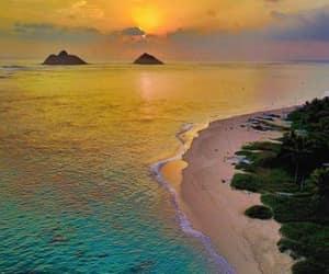 beach, hawaii, and Oahu image