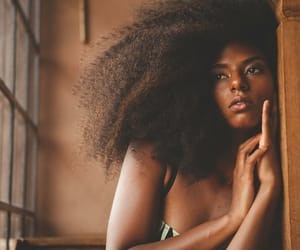 beauty, brown skin, and frizzy hair image