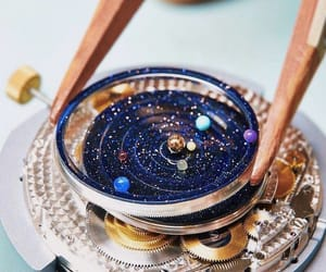 galaxy, planet, and watch image