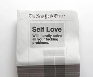 quotes, self love, and newspaper image