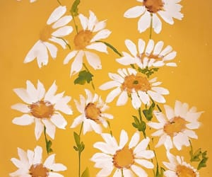 yellow, flowers, and art image