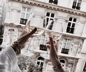 drink, champagne, and wine image