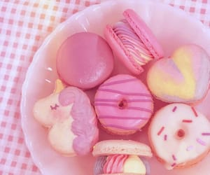 food, pink, and unicorn image