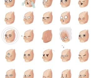 face, gif, and illistration image