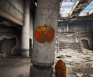 fallout, orange, and Halloween image