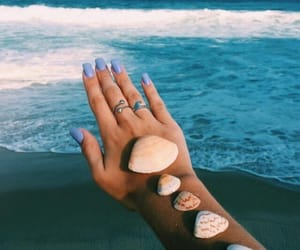 summer, beach, and nails image