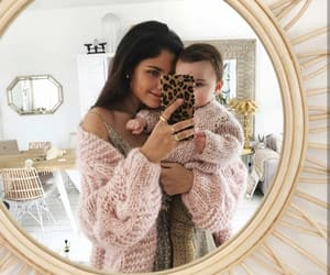 baby, cardigan, and family image