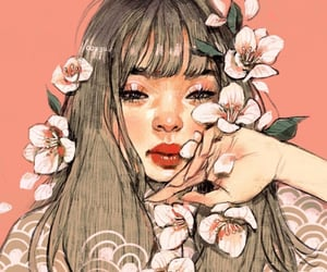 flowers, illustration, and draw image