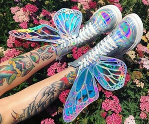 butterfly, fashion, and tattoo image