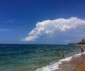 beach, black sea, and clouds image