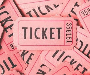 pink, ticket, and aesthetic image