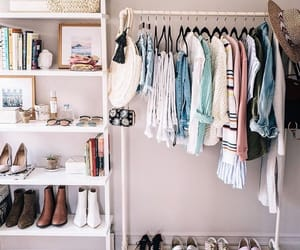 closet, dress, and shoes image