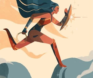DC, illustration, and wonder woman image