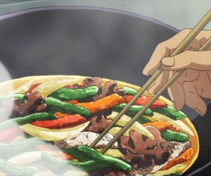 anime, hand, and food image
