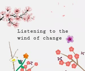 change, wind, and flowers image