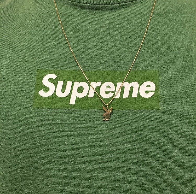 green, supreme, and aesthetic image