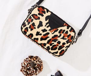 accessories, bag, and leopard image
