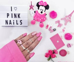 beauty, love pink, and unhas decoradas image